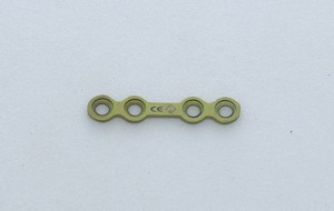 Straight Plate Recon with Stem/ Bar/ Gap - 2.0 mm x 1.0 mm Thickness